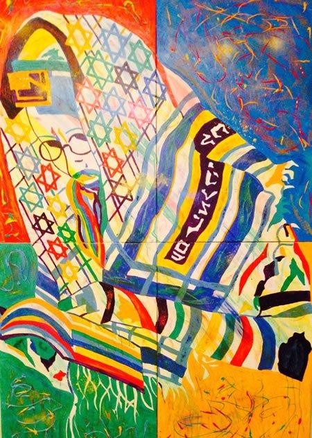 Acrylic on Canvas & Mixed Media