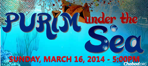 """""""Purim Under the Sea"""" is the theme of the party being held by Chabad of Arlington in Texas."""
