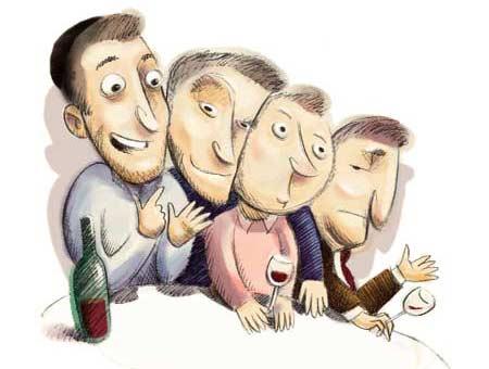 ארבעת הבנים מההגדה בציור אמנותי