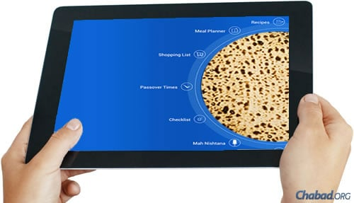 """Neatly organized around a circular shmurah matzah, the """"Passover Assistant"""" app's features range from a Passover meal planner and shopping list to a customizable """"Mah Nishtanah"""" trainer."""