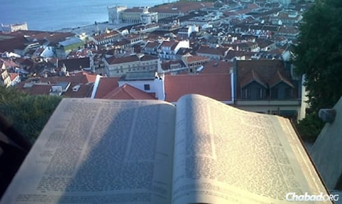 Yeshivah night in Portugal offers an evening of study, as well as a spectacular view. (Photo: Chabad of Portugal)