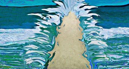 קריעת ים סוף. עיבוד דיגיטלי של רנדי צוקר
