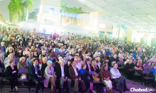 More than 1,000 people attended a concert sponsored by Chabad of East Boca Raton as part of its mega community event to raise funds and awareness for its building expansion project.