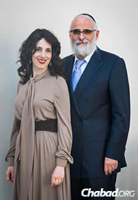 Rabbi Ruvi and Ahuva New, co-directors of Chabad of East Boca