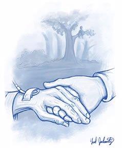 Holding Bubby's hand. ©Yoel Judowitz