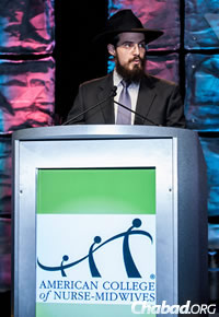 Rabbi Mendel Popack at the 59th annual meeting of the American College of Nurse-Midwives (Photo: ©Robert Levy Photography)