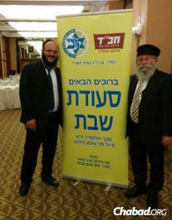 Rabbi Levi Hazan, left, and Rabbi Yaakov Gloiberman (Photo: CHABAD.ITalia)