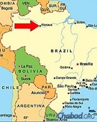 Manaus est située sur le fleuve Amazone, en plein cœur de la jungle brésilienne. (Carte: Wikimedia)