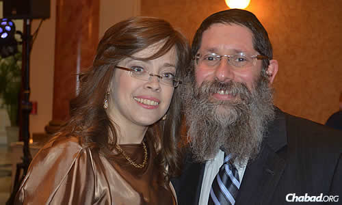 Rabbi Mendel Mangel and his wife, Dinie, started the Chabad center 20 years ago.