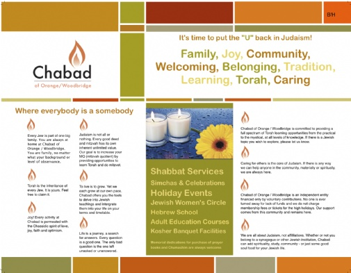 Online Brochure - Chabad of Orange / Woodbridge