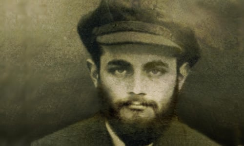 The photograph of the Rebbe from his Russian passport. Courtesy of JEM.