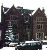 Le bureau du Rabbi (les fenêtres en bas à gauche) au 770 Eastern Parkway à Brooklyn