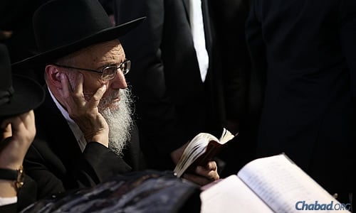Deep in thought, taking in the significance of the day. (Photo: Chaim Perl)
