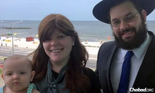 Rabbi Akiva and Hannah Hall—with their daughter, Leah—have just signed the lease for what will be both their home and a Chabad House serving the Jewish people of southern Mississippi.