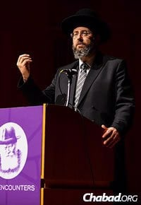 Ashkenazic Chief Rabbi of Israel David Lau addressed the audience. (Photo: Baruch Ezagui)