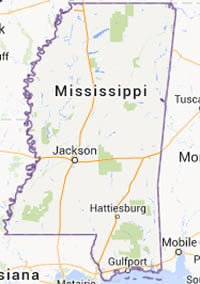 Biloxi is on Mississippi's Gulf Coast, east of Gulfport. (Map: Google)