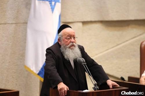 MK Menachem Eliezer Moses (Photo: Itzik Harari, Knesset)