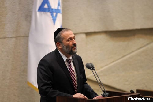 MK Aryeh Deri (Photo: Itzik Harari, Knesset)