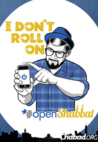 An image from a flier for #openShabbat