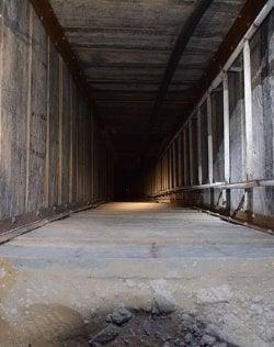 Gaza terror tunnel (photo: IDF)