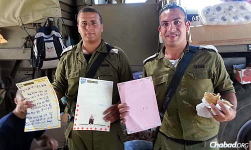 """The food and letters from supporters have boosted morale during """"Operation Protective Edge."""""""