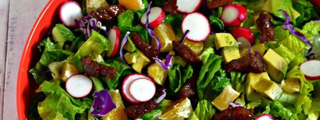Recipe: Romaine Pepper Steak Salad