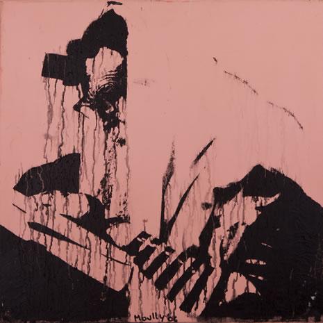 Acrylic and Ink on Canvas & Rain