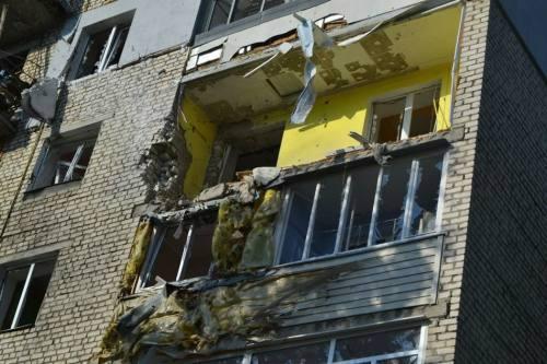 הרס ברחובות לוגנסק