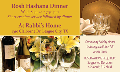 Rosh Hashana Community Dinner