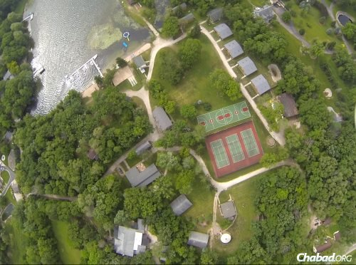 The overnight experience is hosted by the B'nai B'rith Beber Camp in Mukwonago, Wis.—seen here in an aerial view—as part of a unique partnership.