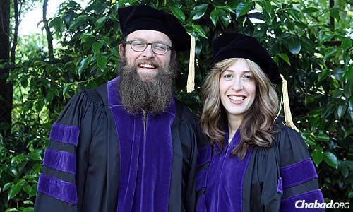 Rabbi Zalman and Miriam Lipskier, co-directors at the Chabad House at Emory University