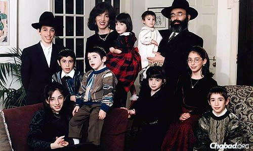 Rabbi Yossi and Dassie New, who arrived in Atlanta 30 years ago, and their family, which grew along with their Chabad center.
