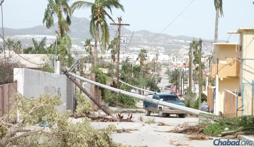 The roads along the way to Cabo were practically impassable, and others told the two men to turn around and go back.