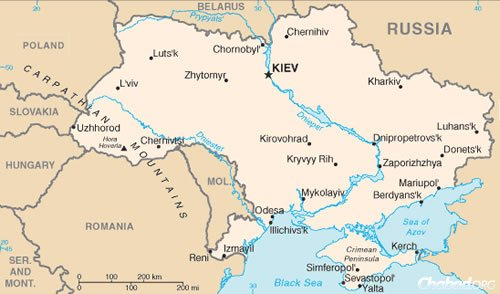 Although Kharkov (here spelled Kharkiv) is close to the Russian border, it has been spared the battles, airstrikes and devastation experienced in cities like Luhansk and Donetsk more to the south.