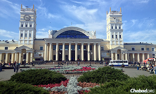 The train station in Kharkov, a city that has kept its normalcy despite its proximity to Russia and the violent turmoil taking place in much of eastern Ukraine.