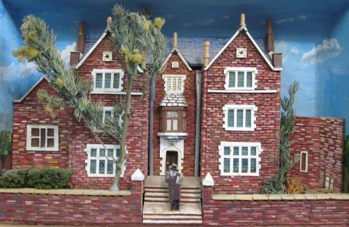 """""""סבן סבנטי"""", בית המדרש המפורסם של הרבי מליובאוויטש, עשוי מגפרורים"""