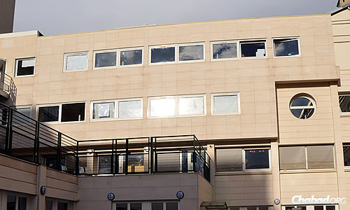 The exterior of the newest campus, the fourth of a string of Beth Hillel schools across Paris.