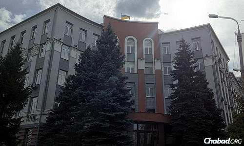 The former headquarters of the NKVD, later KGB, in the city. The building is rumored to go many floors underground. Today, it serves as the headquarters of Ukraine's successor security agency.
