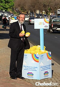 The campaign has caught on in South Africa, with the rabbi having to manufacture more and more of the ark-shaped boxes. A spate of media publicity also helped.