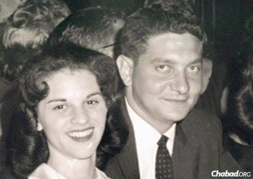 Mailyn and Fred Levin in 1957.