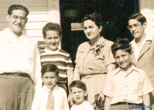 Fred Levin, bottom right, with his parents and brothers in 1950.