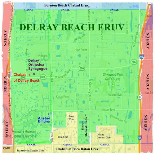 Map Of Florida Showing Delray Beach.Eruv Chabad Of Delray Beach