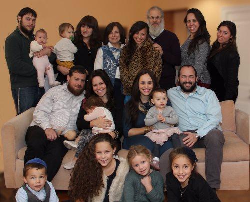 Yaakov and Tzivia Chaya Rosenthal are proud of their five children and nine grandchildren.
