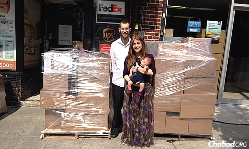 Rabbi Mendy and Mushkie Kesselman, and their son Nosson, now 6 months old, packed up their belongings this summer and left the Crown Heights neighborhood of Brooklyn, N.Y., to establish a Chabad House in Frisco, Texas.