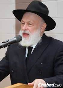 Rabbi Yehuda Krinsky, chairman of Merkos L'Inyonei Chinuch, the educational arm of the Chabad-Lubavitch movement