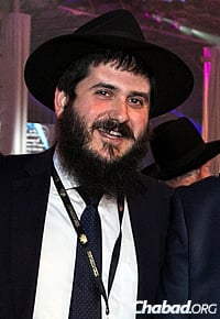 Rabbi Mendy Kotlarsky, executive director of Merkos Suite 302 in Brooklyn, N.Y.