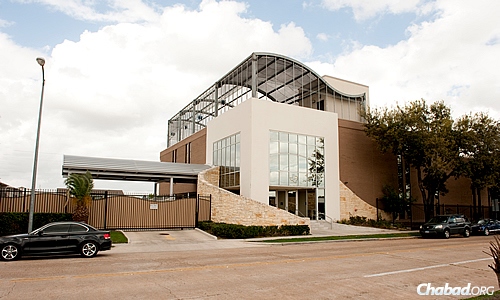 The present: Chabad of Texas sports a state-of-the-art new building, an example of Chabad's continued growth over the past 20 years.
