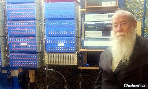 """Films and videos of the Rebbe are """"instrumental in giving the new generation a feeling and concept of who the Rebbe was and how he interacted with people,"""" explains Rabbi Chaim Halberstam, who for years arranged for communities outside of Crown Heights to hear the Rebbe's addresses via a massive telephone relay system."""