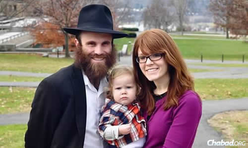 Rabbi Dovid and Miri Birk work as Chabad emissaries at the Roitman Chabad Center at Cornell University in Ithaca, N.Y., under the direction of Rabbi Eli and Chana Silberstein.