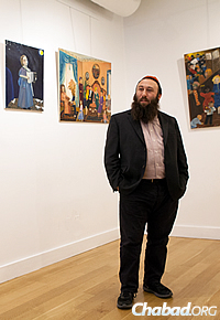 Rabbi Simcha Weinstein, who runs the gallery and Chabad at Pratt